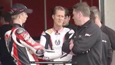 Schumi fährt Motorrad Rennen in der Motorsport Arena Oschersleben 9