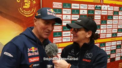 Dakar 2020 mit Ellen Lohr Stéphane Peterhansel und Nasser Al-Attiyah 5