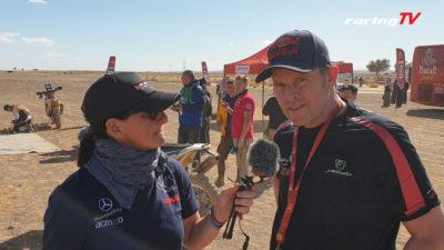 Dirk von Zitzewitz als Pressekollege bei Ellen Lohr auf der Dakar 2020 2